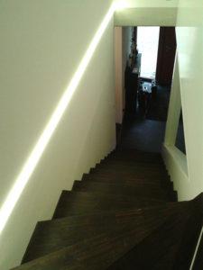 LED Licht-Design in einem Treppenaufgang des Haus Taraben in Radebeul