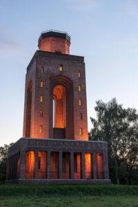 Bismarckturm bei Sonnenuntergang
