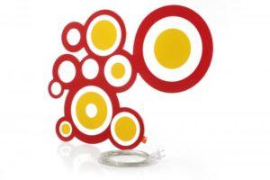 Designer Leuchte LED Wandleuchte Kreisi rot orange