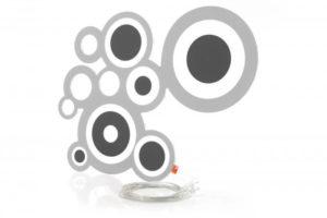 Designer Leuchte LED Wandleuchte Kreisi schwarz-grau