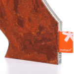 Designerleuchte Plexiglas LED Leuchte organic rot rost Farbe-Detail 3