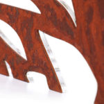Designerleuchte Plexiglas LED Leuchte organic rot rost Farbe Details-2