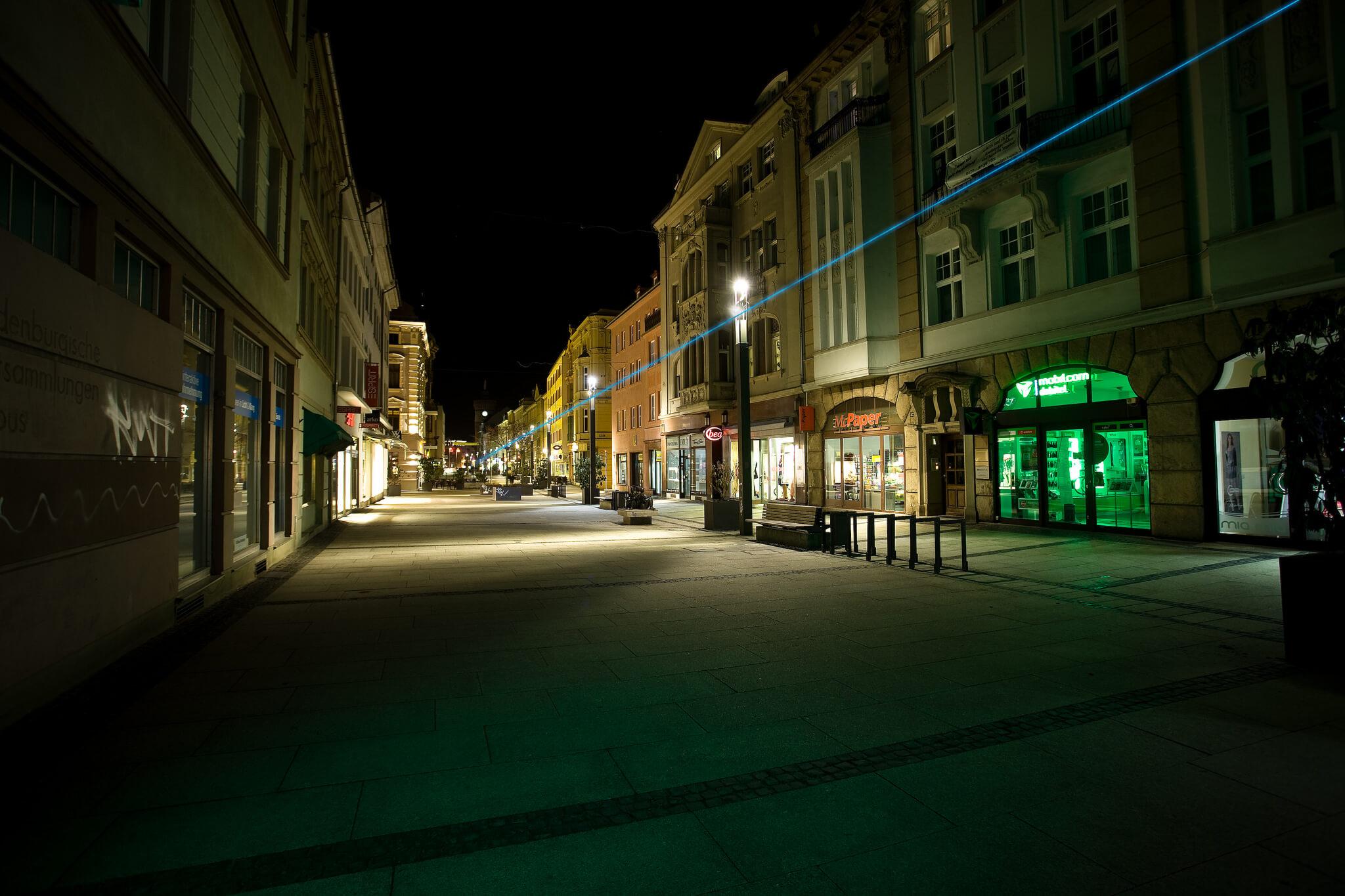 Laserguide für die Stadt Cottbus