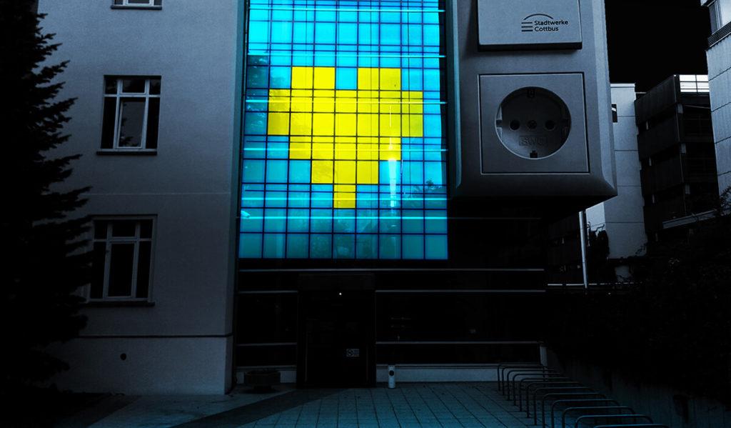 Entwurf einer interaktiven-digitalen-Fassade