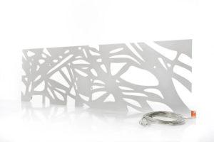 LED Designer Leuchte Plexiglas organic weiß