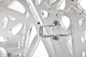 LED Designer Leuchte Plexiglas organic weiß-wandhalterung