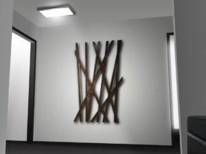 LED Wandleuchte in einem Flur installiert