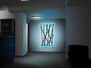 Dimmbare LED Wandleuchte Schilf-ii mit blauem Licht