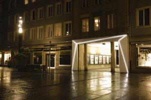 LED-Lichtinstallation Durchbruch Sprem - am Stadtbrunnen