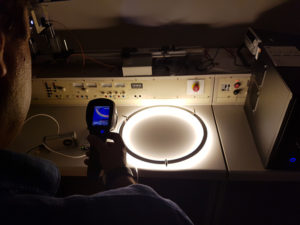 LED Ringleuchte-TheO auf dem Prüfstand
