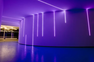 Bild von der LED-Beleuchtung - Lichtinstallation im Foyer arvato Bertelsmann Cottbus
