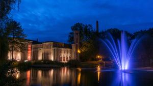 Springbrunnen Lichtspiel bei Nacht am Amtsteich Cottbus