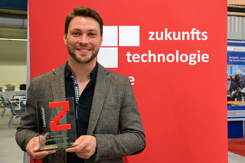News-Beitrag-Zunkunftspreis-Das rote Z für Lichtmanufaktur Leuchtstoff