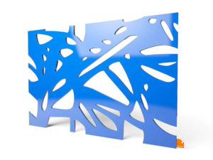"""Designerleuchte """"Organic"""" in blauer Farbe"""