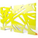 """Designerleuchte """"Organic"""" in gelber Farbe"""
