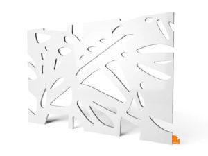 Plexiglas LED Designerleuchte Organic weiss-gross