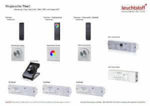 Grafik mit Zubehoer für LED Leuchten der Lichtmanufaktur Leuchtstoff