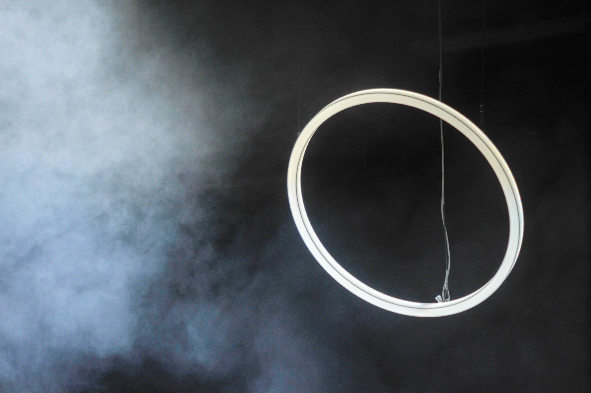 Led Ringleuchte TheO Nahaufnahme mit Nebel