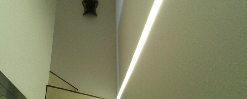 Lichtsystem mit Plexiglas im Haus Taraben Radebeul Sachsen